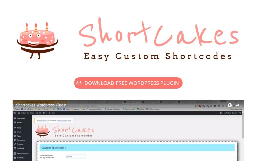Shortcakes WordPress Plugin