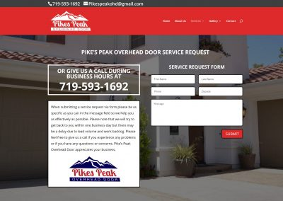 Pike's Peak Overhead Door Website